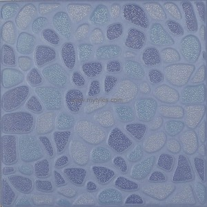 Antiskid Stone Ceramic Floor Tile -Flora Blue175