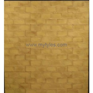 Imported wall tile - Brick yellow