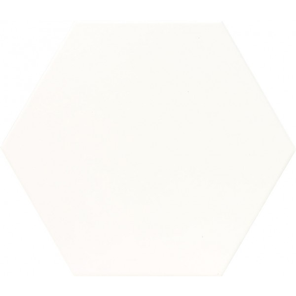 * Plain White Hexagon Tile - Matt GS