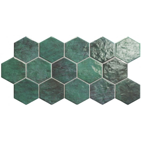 Designer Wall Tile - Hexagon Zellige 265x510mm