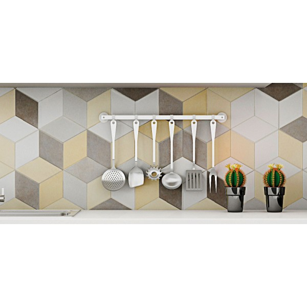 * Hexagon Tile - Toscana Amarillo (Random Design)