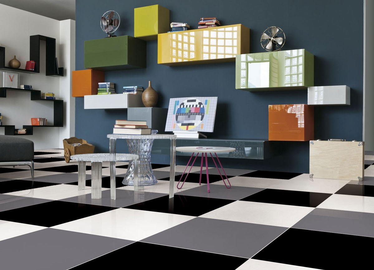 * 600x600mm Imported Floor Tile Black and White 6602 6601