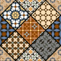600x600mm Printed Floor and Wall Tile - 2509