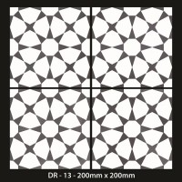 *Moroccan Tiles 200x200mm -DR 13
