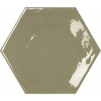 * 120x138 mm - Imported Hexagon Wall Tile - Kisses Victorian Green