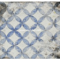 Imported Wall Tile Maioliche 3 Blu - 200x200 mm