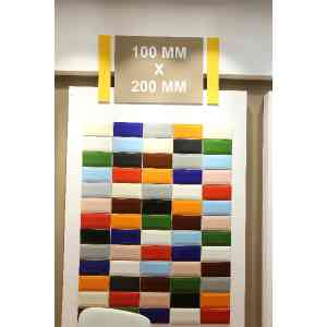 """4""""x8"""" ceramic wall tile ( Solid Colors)"""