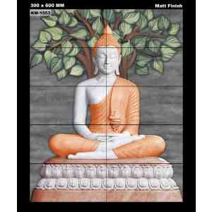 ** New * Poster Wall Tile - Buddha 1553 (4Feetx5Feet)