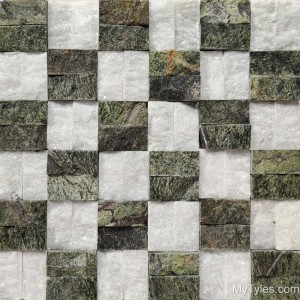 * Natural Stone Cladding MYT107 - White and Green Marble Mosaic