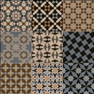 600x600mm Printed Floor and Wall Tile - 2500