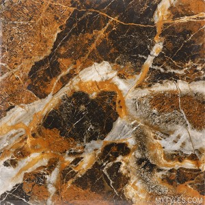* High Gloss Vitrified Floor Tile - Unique Brown 2x2 Feet