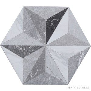 * Imported Hexagon Tile MBC Corola Iris Grey 240x200 mm