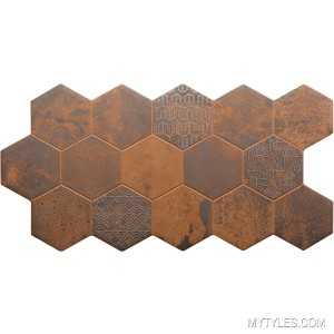 * Imported Hexagon Tile MGC HIVE COBRE 455x900 mm