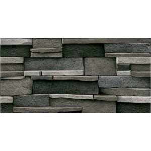 300x600mm Wall Tile - Aria Black (Vitrified Tile)