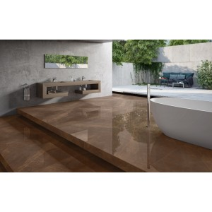 1200x1200mm Vitrified Floor Tile - Armani Brown (GVT)