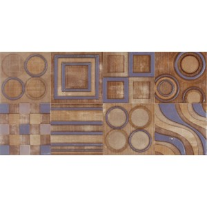 3rd Fired Decorated Ceramic Wall Tile Highlighter - CA111