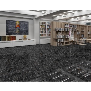 1200x1200mm Vitrified Floor Tile - Cosmic Black (GVT)
