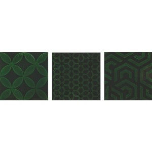 * New * 150x150 mm Imported Designer Wall Tile - Dec. Craquele Victorian Green