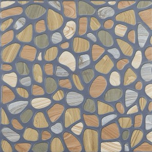Antiskid Stone Ceramic Floor Tile -Blue Multi 1113