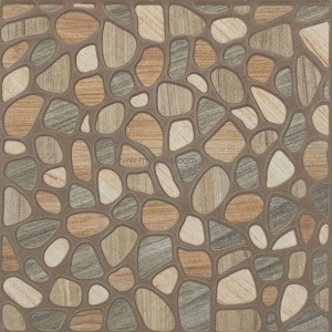 Antiskid Stone Ceramic Floor Tile -Brown Multi 1115