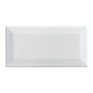 * 100x200mm Subway Tile -  White ( Bevelled Edge)