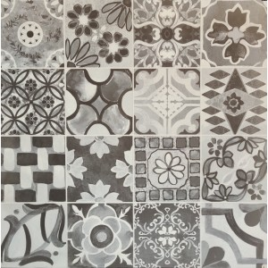 593x593 Morrocan Floor and Wall Tile - Fayette White