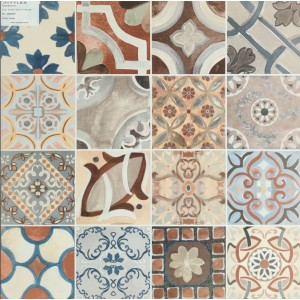 593x593 Morrocan Floor and Wall Tile - Fayette Multi Color