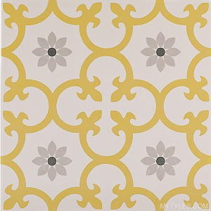 Imported Floor and Wall Tile - Dalia-Dandelion - 10x10 Inch