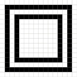 200x200 mm Imported Designer Wall Tile - Micro Grid