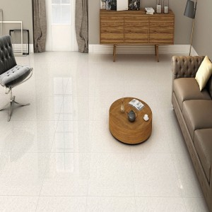 * 600x600mm Double Charge Vitrified Tile - Platinum White