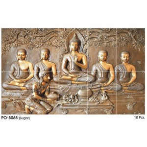 * Best Selling *Poster Wall Tile Set - Buddha 5068 (5'x3')